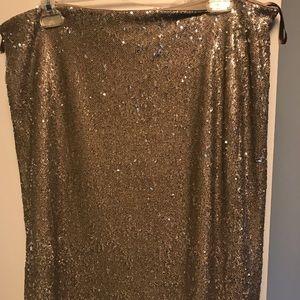 White House black market sequin skirt